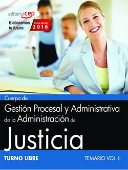 Temario oposiciones Justicia para Gestión Procesal y